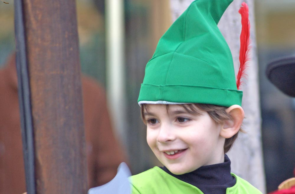 Boy in green hat